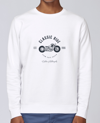 Unisex Sweatshirt Crewneck Medium Fit Rise Classic Ride Motorcycles by AB