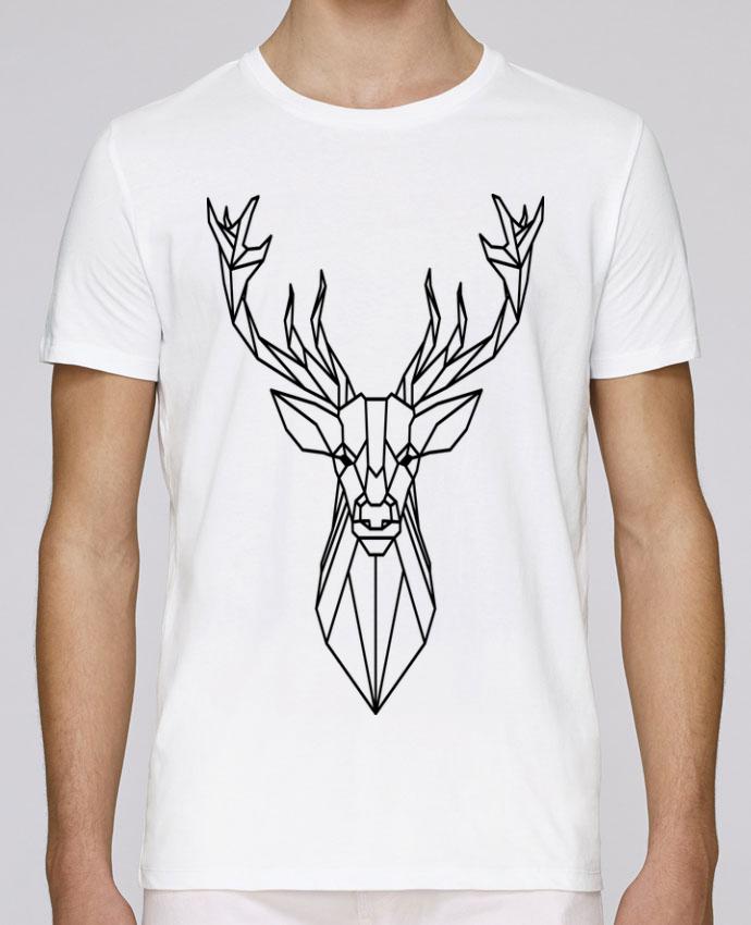 Unisex T-shirt 150 G/M² Leads Cerf polygonal-Animal by Atomic-Print