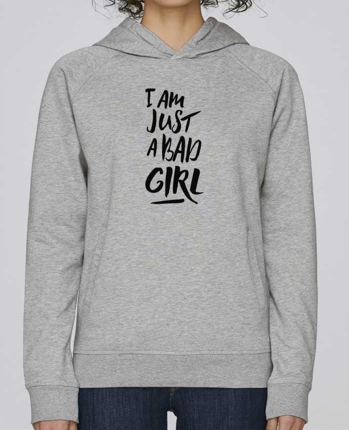 Hoodie Raglan sleeve welt pocket I am just a bad girl by tunetoo