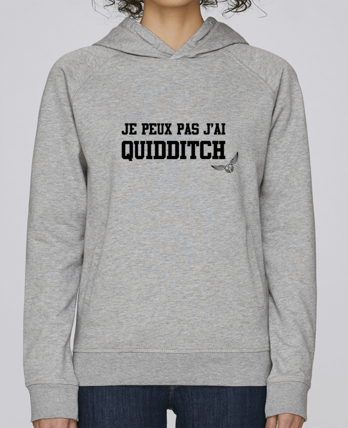 Hoodie Raglan sleeve welt pocket Je peux pas j'ai quidditch by tunetoo