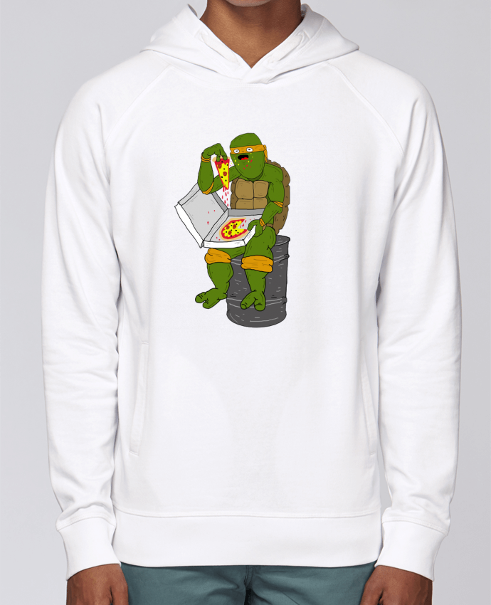 Hoodie Raglan sleeve welt pocket Pizza by Nick cocozza