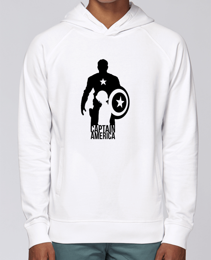 Hoodie Raglan sleeve welt pocket Captain america by Kazeshini
