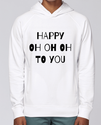 Hoodie Raglan sleeve welt pocket Happy OH OH OH to you by tunetoo