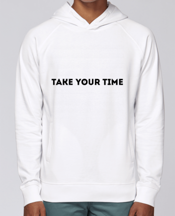 Hoodie Raglan sleeve welt pocket Take your time by tunetoo