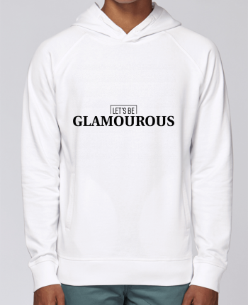 Hoodie Raglan sleeve welt pocket Let\'s be GLAMOUROUS by tunetoo