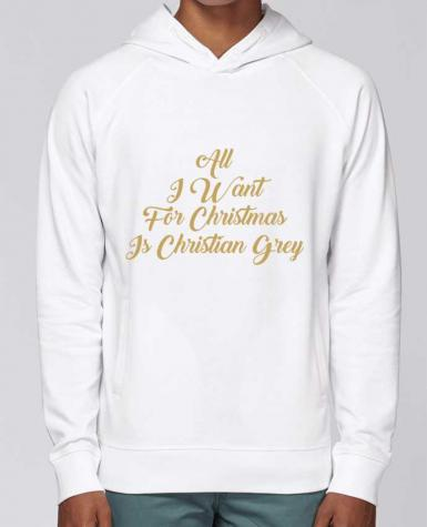 Hoodie Raglan sleeve welt pocket All I want for Christmas is Christian Grey by tunetoo