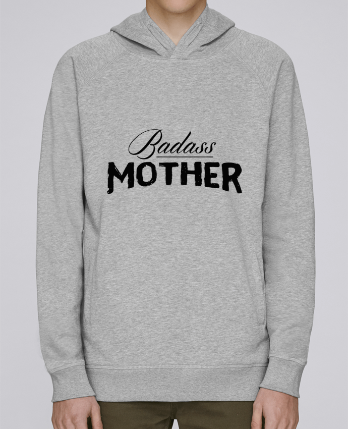 Hoodie Raglan sleeve welt pocket Badass Mother by tunetoo