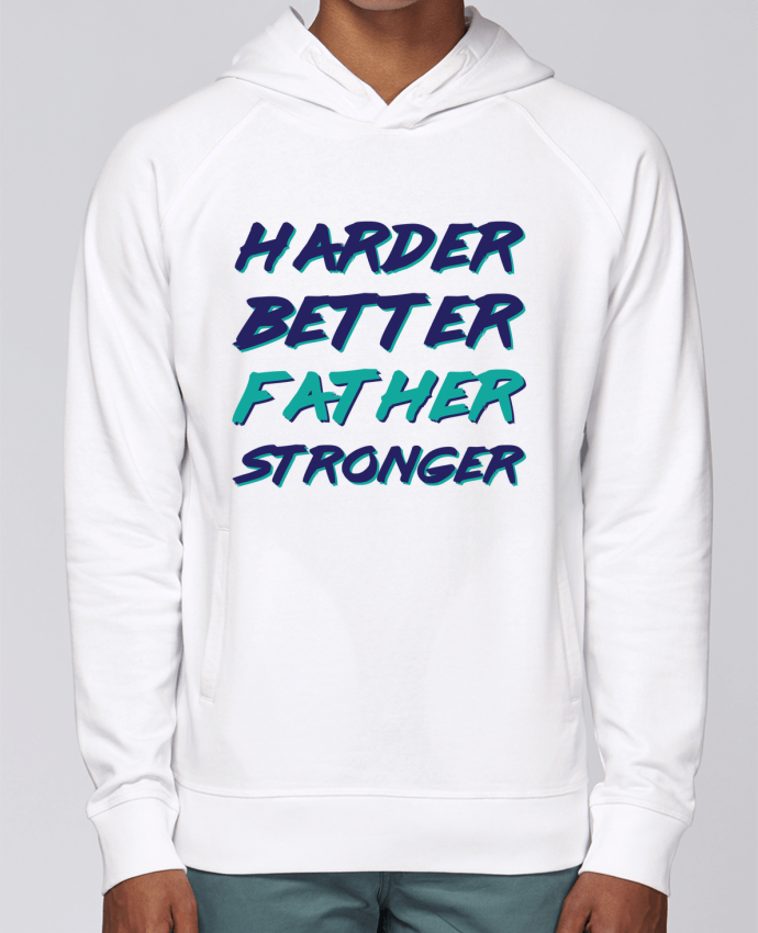 Hoodie Raglan sleeve welt pocket Harder Better Father Stronger by tunetoo