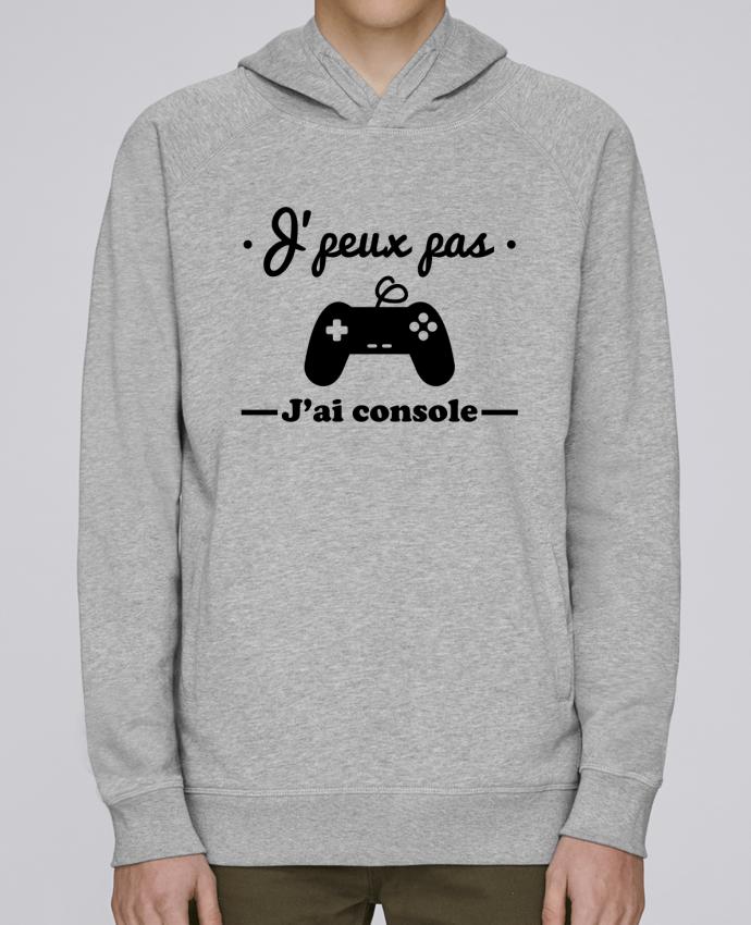 Hoodie Raglan sleeve welt pocket J'peux pas j'ai console ,geek,gamer,gaming by Benichan