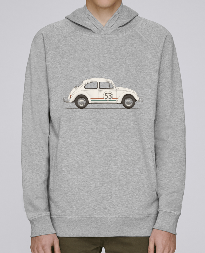 Hoodie Raglan sleeve welt pocket Herbie big by Florent Bodart