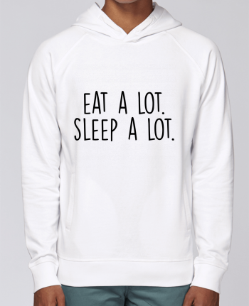 Hoodie Raglan sleeve welt pocket Eat a lot. Sleep a lot. by Bichette