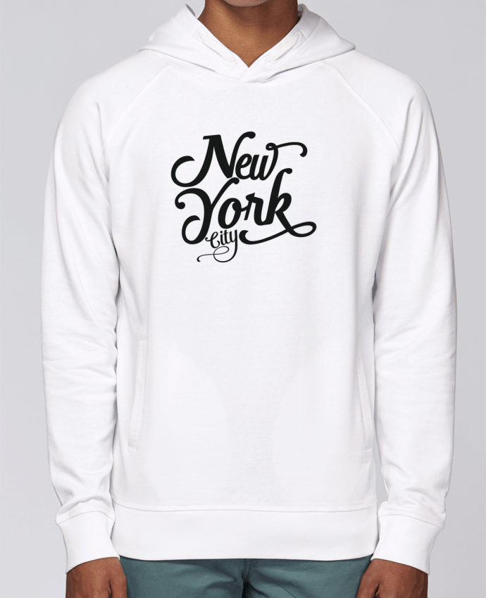 Hoodie Raglan sleeve welt pocket New York City by justsayin