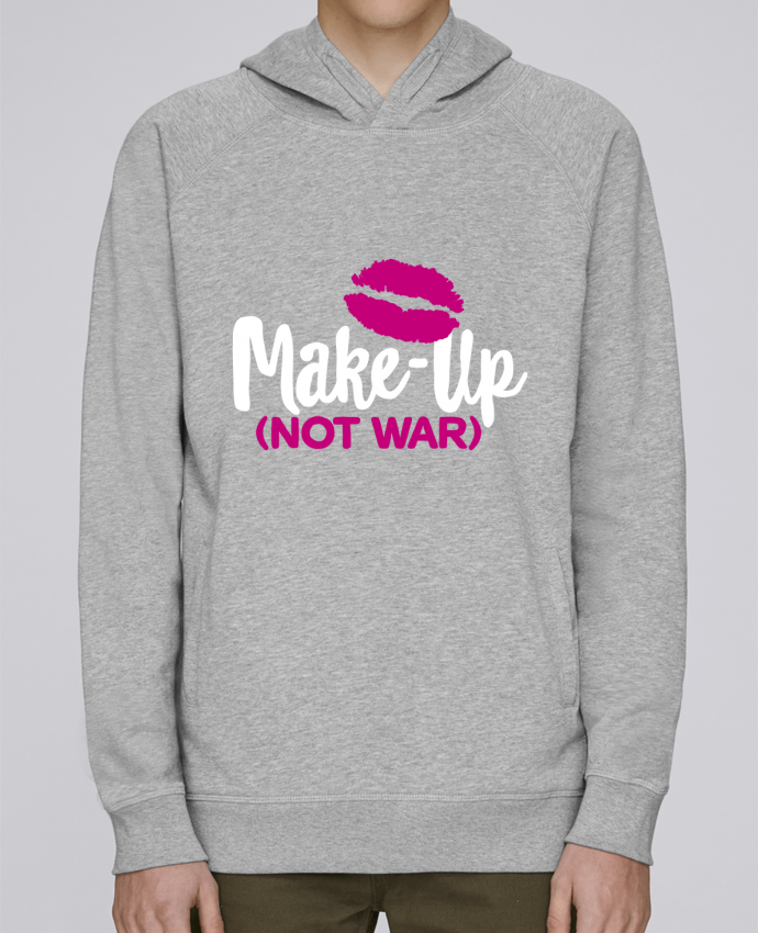 Hoodie Raglan sleeve welt pocket Make up not war by LaundryFactory
