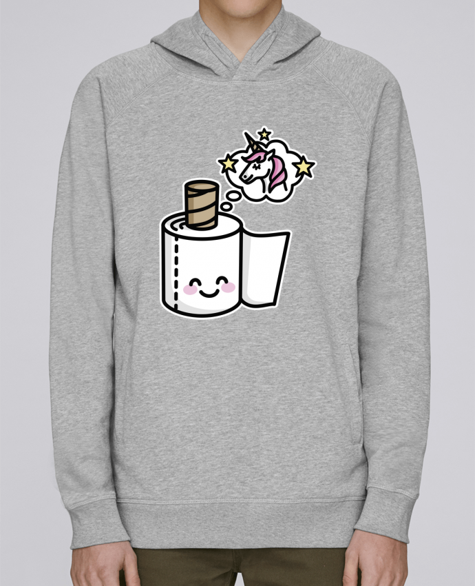 Hoodie Raglan sleeve welt pocket Unicorn Toilet Paper by LaundryFactory