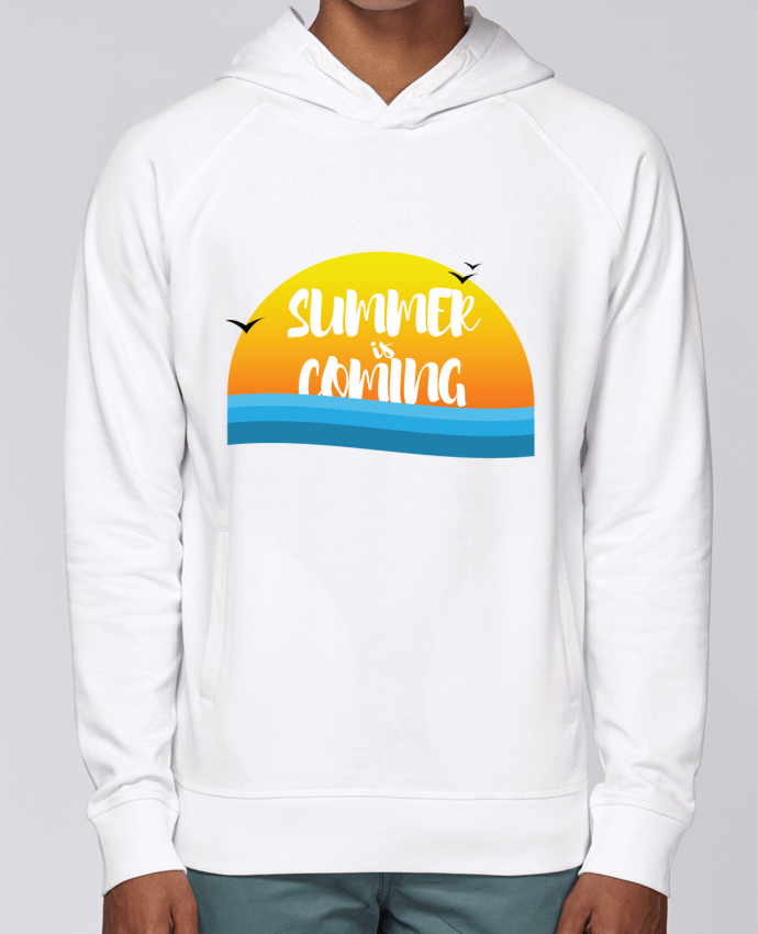 Hoodie Raglan sleeve welt pocket Summer is coming by tunetoo