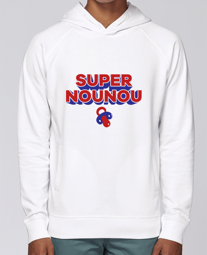 Hoodie Raglan sleeve welt pocket Super nounou by tunetoo