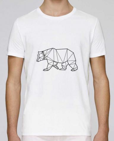 T-shirt crew neck Stanley leads Bear Animal Prism by Yorkmout