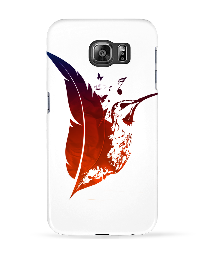 Case 3D Samsung Galaxy S6 plume colibri - Studiolupi