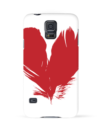 Case 3D Samsung Galaxy S5 coeur de plumes by Studiolupi