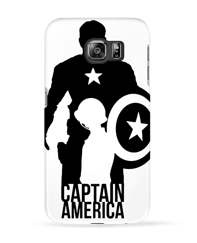 Case 3D Samsung Galaxy S6 Captain america - Kazeshini