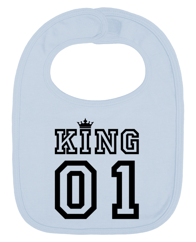 Baby Bib plain and contrast King 01 by tunetoo