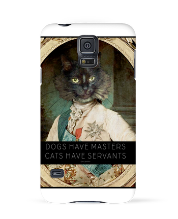 Case 3D Samsung Galaxy S5 King Cat by Tchernobayle