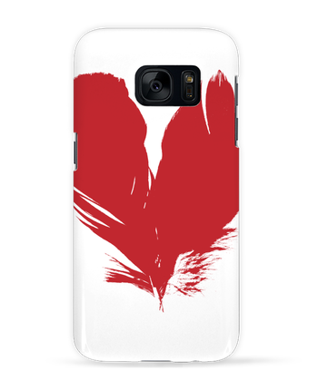 Case 3D Samsung Galaxy S7 coeur de plumes by Studiolupi