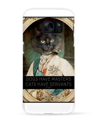 Case 3D Samsung Galaxy S7 King Cat by Tchernobayle
