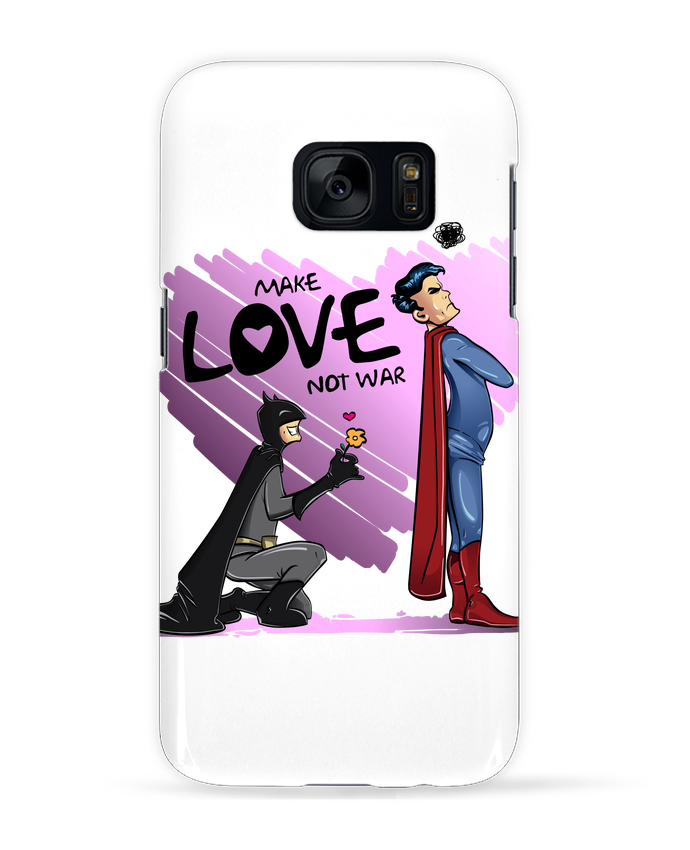 Case 3D Samsung Galaxy S7 MAKE LOVE NOT WAR (BATMAN VS SUPERMAN) by teeshirt-design.com