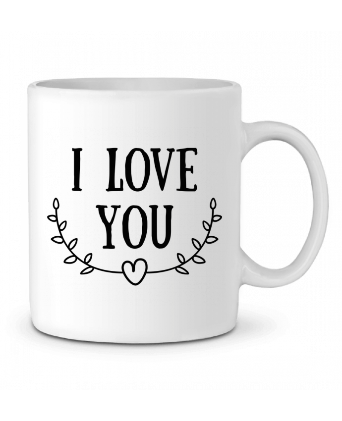Ceramic Mug I love you by tunetoo