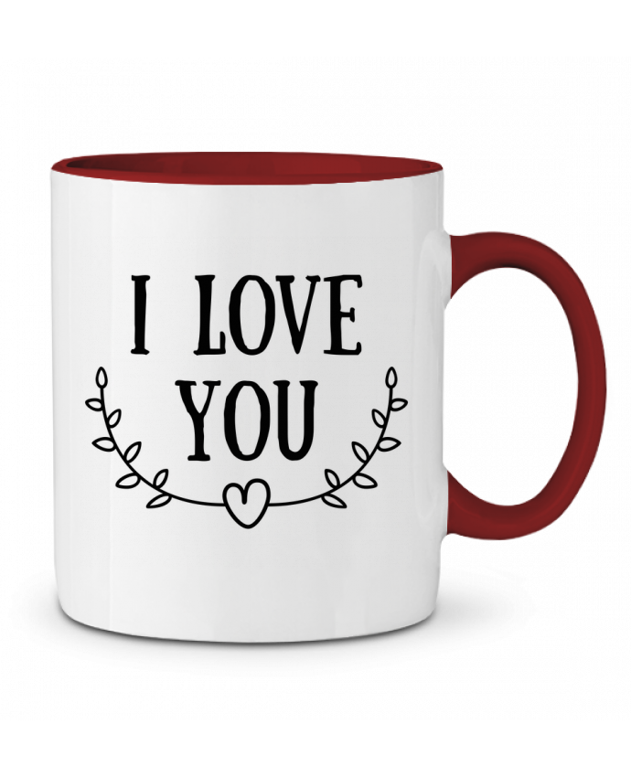 Two-tone Ceramic Mug I love you tunetoo