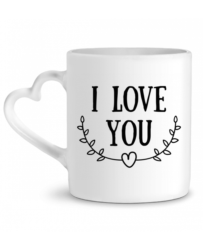 Mug Heart I love you by tunetoo