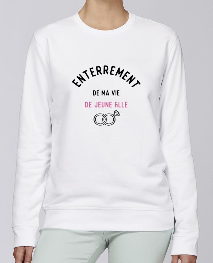 Unisex Sweatshirt Crewneck Medium Fit Rise Ma vie de jeune fille cadeau evjf mariage by Original t-shirt