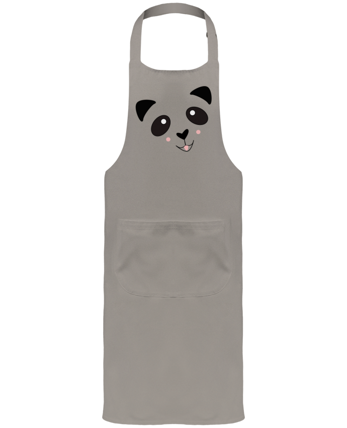 Garden or Sommelier Apron with Pocket Bébé Panda Mignon by K-créatif