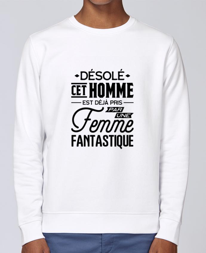 Unisex Sweatshirt Crewneck Medium Fit Rise Une femme fantastique by Original t-shirt