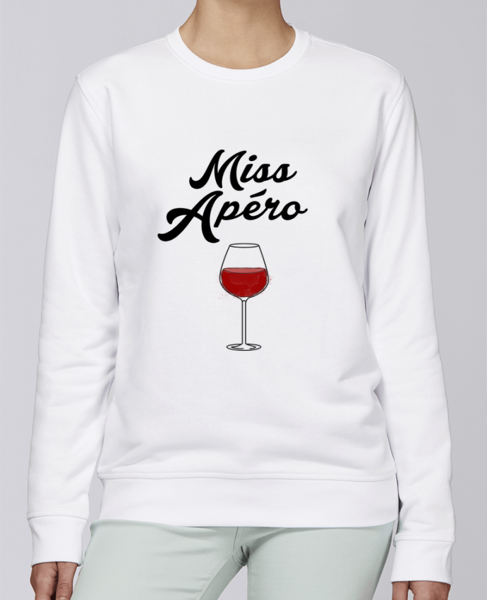 Unisex Sweatshirt Crewneck Medium Fit Rise Miss Apéro by tunetoo