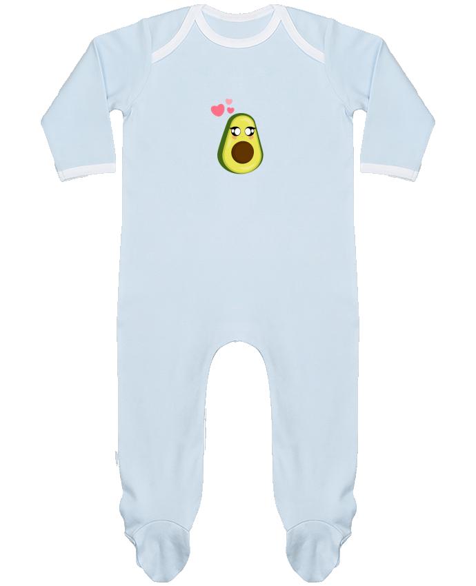 Baby Sleeper long sleeves Contrast Avocat by moonlight_miu