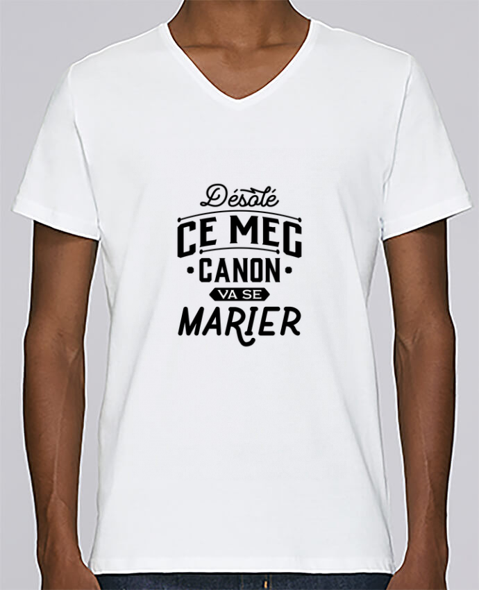 T-shirt V-neck Men Stanley Relaxes ce mec canon va se marier evg by Original t-shirt