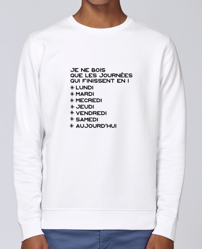 Unisex Sweatshirt Crewneck Medium Fit Rise Les journées en i cadeau by Original t-shirt