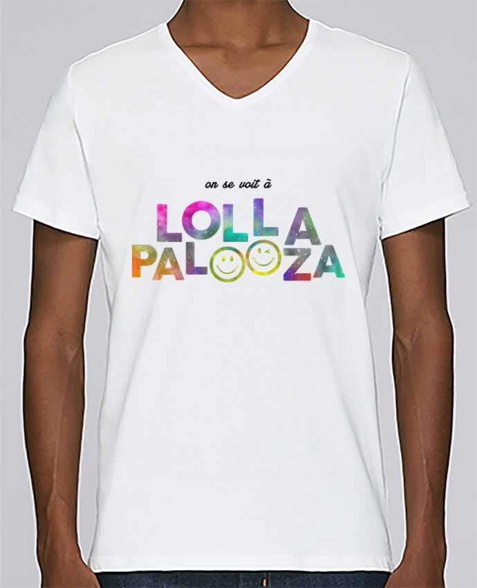 T-shirt V-neck Men Stanley Relaxes On se voit à Lollapalooza by tunetoo