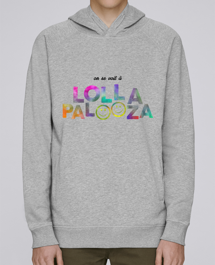 Hoodie Raglan sleeve welt pocket On se voit à Lollapalooza by tunetoo