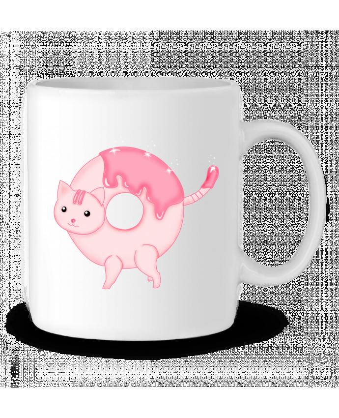Ceramic Mug Tasty Donut Cat by Thesoulofthedevil