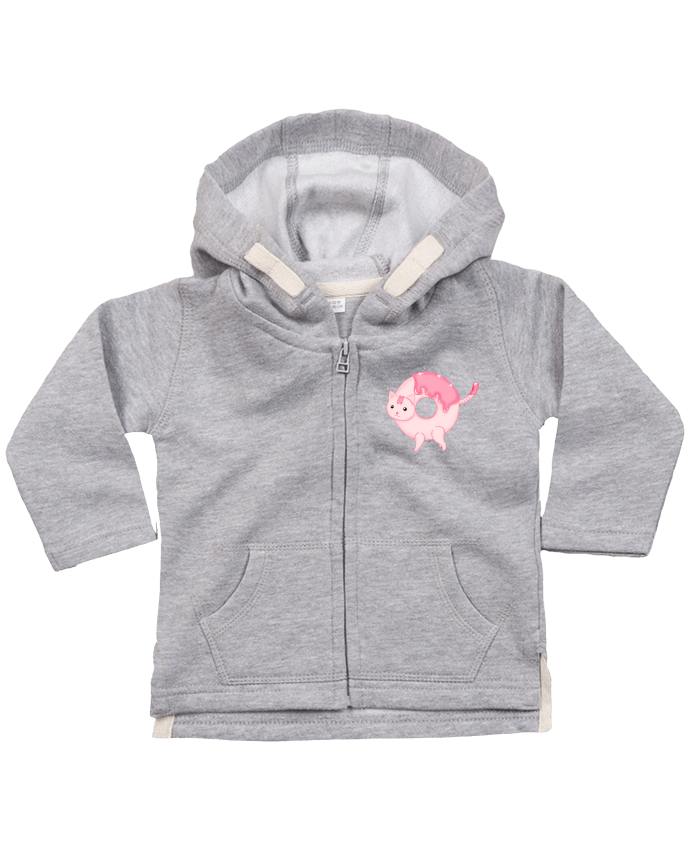 Hoddie with zip for baby Tasty Donut Cat by Thesoulofthedevil