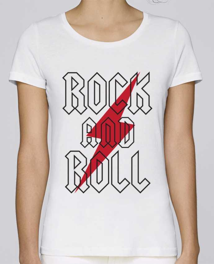 T-shirt Women Stella Loves Rock And Roll by Freeyourshirt.com