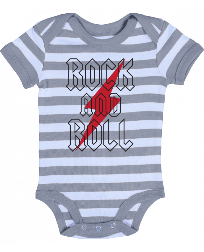Baby Body striped Rock And Roll - Freeyourshirt.com