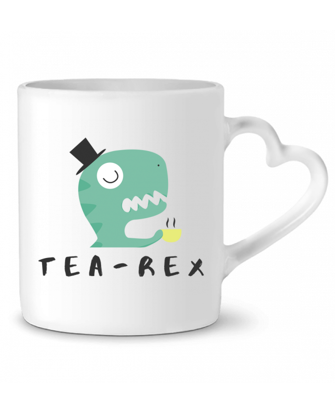 Mug Heart Tea-rex by tunetoo