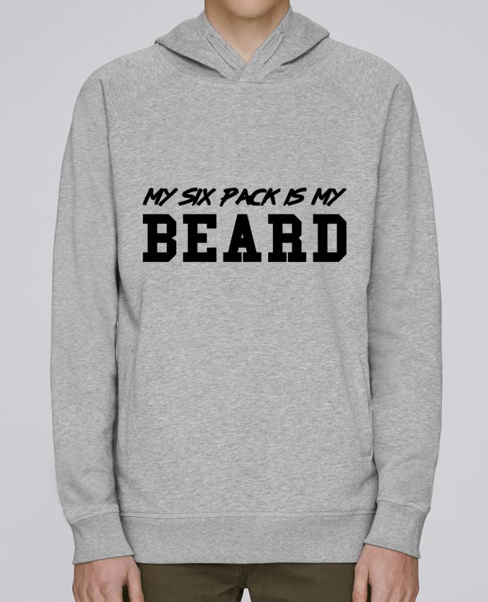 Hoodie Raglan sleeve welt pocket My six pack is my beard by tunetoo