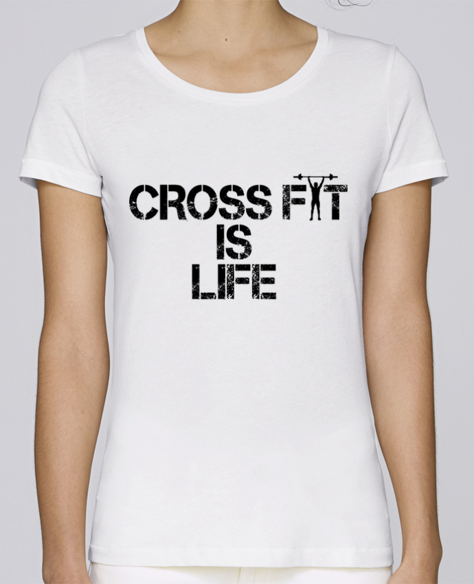 T-shirt Women Stella Loves Crossfit is life by tunetoo
