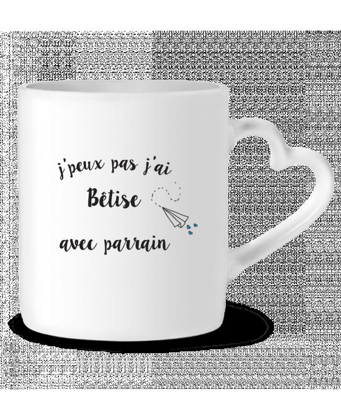Mug Heart J'peux pas j'ai bêtise avec byrain by Mila-choux