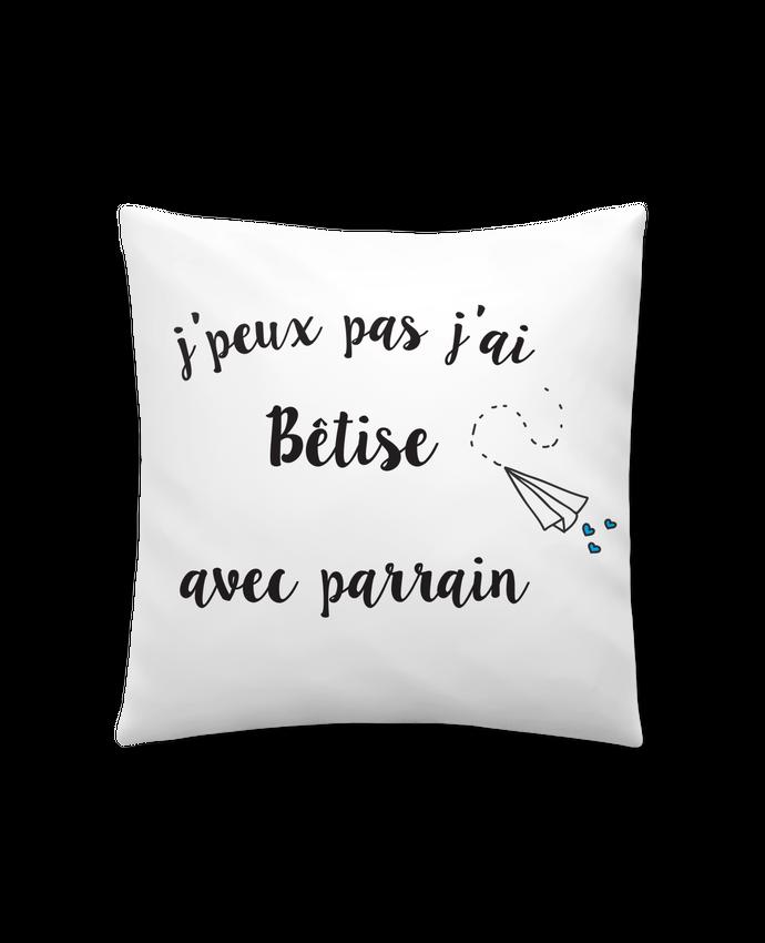 Cushion synthetic soft 45 x 45 cm J'peux pas j'ai bêtise avec byrain by Mila-choux